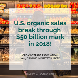 Organic industry grows to over $50 billion in sales